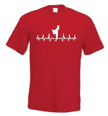 It's in My HeartBeat Karate T shirt Freestyle Martial Arts t-shirt