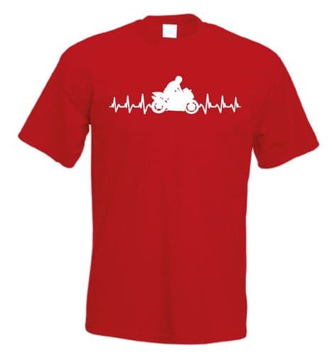It's in My HeartBeat Motorbike T shirt Super Bike tshirt Motorcycle t-shirt