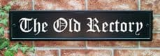 Large Rectangular House Sign – 540mm x 127mm; 21.3 inches x 5 inches