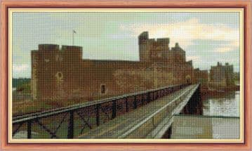 "Blackness Castle, Falkirk  - 14 Count Cross Stitch Design - 18"" x 10"""