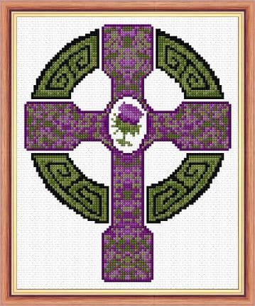 Celtic Cross & Scottish Thistle - 14 Count Mini Cross Stitch Kit