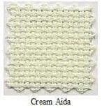 "Cream 14/16 Count Aida Fabric - 12"" x 12"" (30cm x 30cm)"