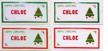 Personalised Christmas Tree Money Gift Wallet - Cross Stitch DL Card Kit
