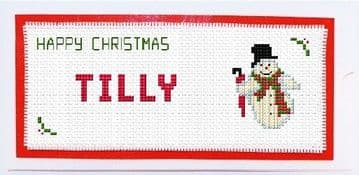 Personalised Snowman Money Gift Wallet - Cross Stitch DL Card Kit