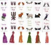 Scottish Bookmarks - Cross Stitch Kits