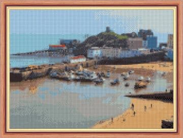 "Tenby Harbour - 14 Count Cross Stitch Design - 11"" x 8"""