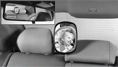 Genuine Volvo V70, C70, S40, V40, V50, C30, S60, S80, XC90 Child Seat Mirror - Parts Monster