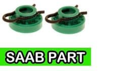 Saab NG900, 9-3, 9-5 Green Window Regulator Rollers (Pair)