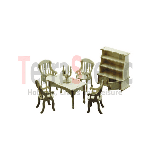 Dolls House Furniture Kit 1:12 Scale Dining Room