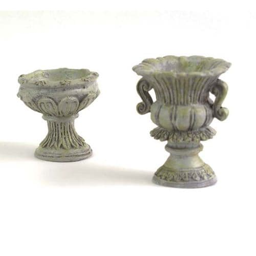 Fiddlehead Fairy House Fairy Home Fairy Garden Classical Stone Urns, 2pcs set 16488