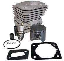 HUSQVARNA 346 350 351 353 JONSERED 2149 2150 CYLINDER & PISTON 44MM WITH PARTS AS PER PHOTO NEW