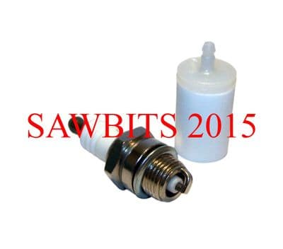 HUSQVARNA FUEL FILTER & SPARK PLUG FITS MOST MODELS NEW
