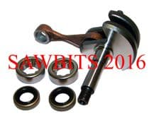 STIHL 020T MS200 MS200T CRANKSHAFT WITH BEARINGS AND SEALS  1129 030 0400