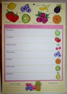 A4 Weekly Planner available in 3 Sweet Treat Designs.