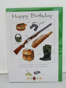 Birthday Card for the keen shooter.