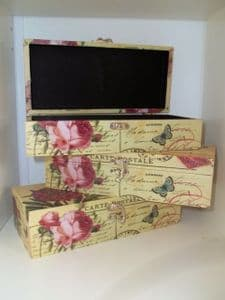 Carte Postale French Chic Country Style Floral Small Storage Box in 3 Designs