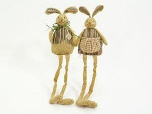 Easter Bunnies Shelf Sitting Decorations in 2 Styles Mr & Mrs