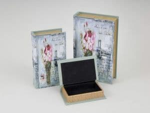 Floral Shabby Chic Book Box's / Storage in 3 Sizes