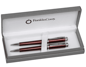 Franklin Covey Freemont Vineyard Red Ballpoint Pen & Pencil Set FC0031-3 1313 Boxed
