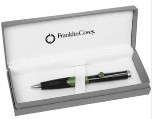 Franklin Covey Satin Green & Black Norwich Sport Ballpoint Pen FC0062-3 1623
