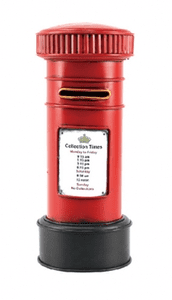 Handcrafted Tin Plate Royal Mail Post Box Money Box LP25760