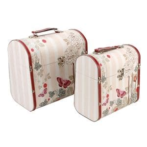 Laura Darrington Design Flowered Domed Wooden Storage Box 2685 Available as a Set or Individually