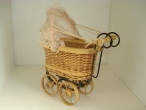 Novelty Pram with Lace