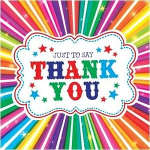 Thank You Cards and Envelopes Pack of 5