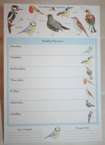 Woodland & Garden Birds A4 Weekly Planner Ornithology