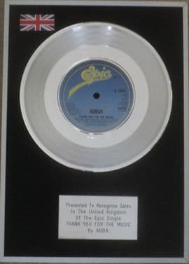 ABBA - 7 inch Platinum Disc - TAKE A CHANCE ON ME