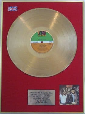 AC/DC - 24 carat  LP Gold  Disc - HIGHWAY TO HELL