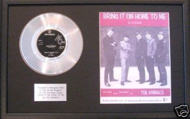 ANIMALS-Platinum Disc&songsheet-BRING IT ON HOME TO ME