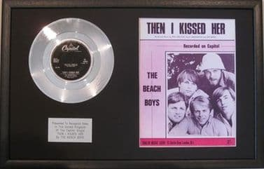 BEACH BOYS - Platinum Disc & Song Sheet - THEN I KISSED HER