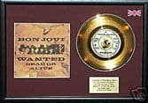 """BON JOVI - WANTED DEAD OR ALIVE -Gold Disc 7""""with cover"""