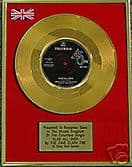 """DAVE CLARK FIVE - 7""""  24 Carat Gold Disc- GLAD ALL OVER"""