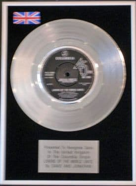 DAVID AND JONATHAN -Platinum Disc-LOVERS OF THE WORLD..