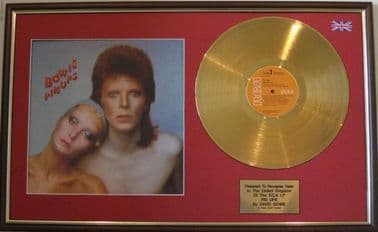 DAVID BOWIE  -PIN UPS  LP Gold disc & cover