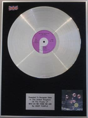 DEEP PURPLE - LP  Platinum disc- WHO DO WE THINK WE ARE