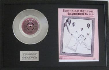 GLADYS KNIGHT-Platinum Disc & Song Sheet-THE BEST THING THAT EVER HAPPENED TO ME