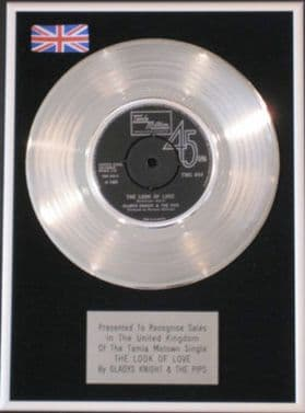 GLADYS KNIGHT &THE PIPS -Platinum Disc-THE LOOK OF LOVE