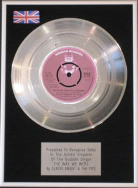 GLADYS KNIGHT &THE PIPS -Platinum Disc-THE WAY WE WERE