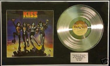 KISS - DESTROYER-  Platinum Disc with cover