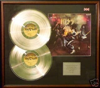 KISS - Double platinum disc and cover presentation