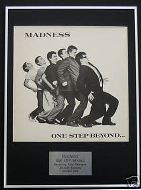 MADNESS - Framed LP Cover - ONE STEP BEYOND