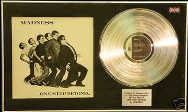 MADNESS - Platinum Disc and LP cover - ONE STEP BEYOND