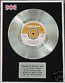 """MOODY BLUES   7"""" Platinum Disc   NIGHTS IN WHITE SATIN"""
