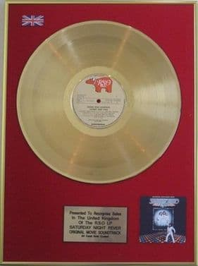SATURDAY NIGHT FEVER - 24  Carat LP Gold Disc -ORIGiNAL SOUNDTRACK with Bee Gees