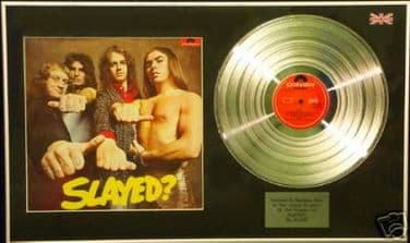 SLADE - SLAYED  LP Platinum Disc with cover