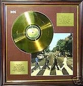 THE BEATLES-ABBEY ROAD - LP gold disc & cover