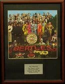 THE BEATLES  - SGT Pepper Lonely Heartd Club Band - Framed LP Cover